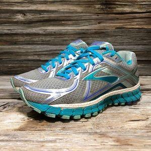 Brooks GTS 16 Gray Blue Running Shoes Women 6